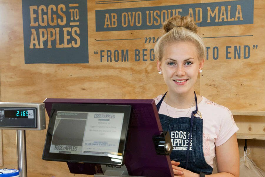 Eggs To Apples Pre-Order Service - Staff ready to help
